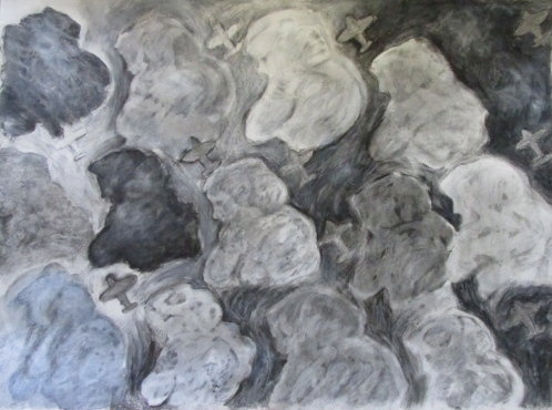 """what one imagines of clouds 30""""x22"""""""