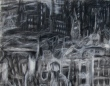 """Iphigenia in the evening"" detail 22""x 30"" conte, charcoal, eraser"