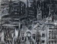 """""""Iphigenia in the evening"""" detail 22""""x 30"""" conte, charcoal, eraser"""
