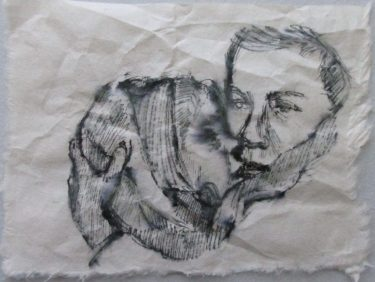 """refugee mother and child4""""x6"""""""