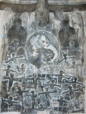 """the angel was silent 50""""x38"""" 2008"""