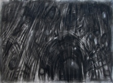 """""""Within an annihilated world"""" 22""""x30"""" charcoal, conte, erasure, blade."""