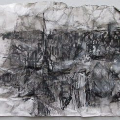 "A Simple Raid 7""x5"" felt pen on crushed stonehenge"