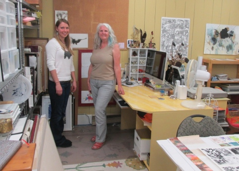 Natasha van Netten (left) with Jill Ehlert in her studio.