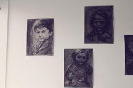 little saints (studies for statues on a cathedral)