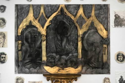 """dresden madonna ( after Raphael )"""